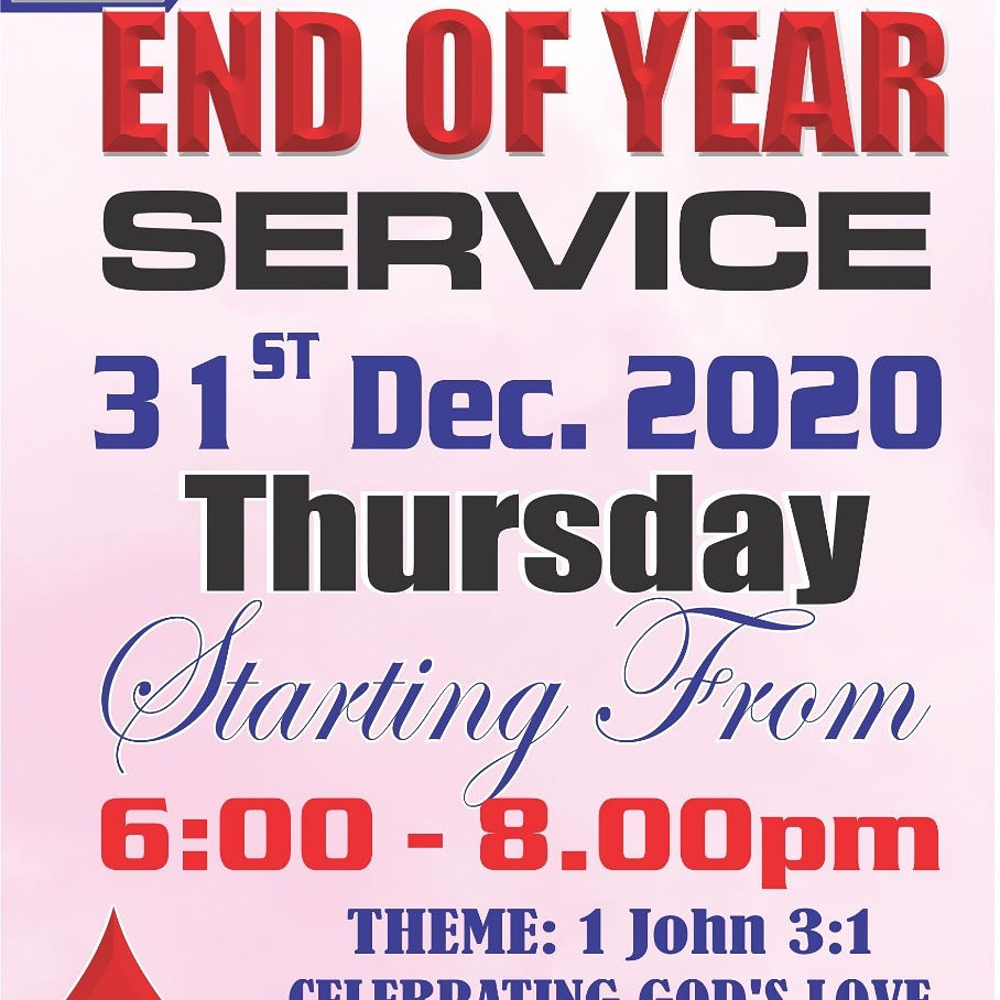 End Year Service 2020