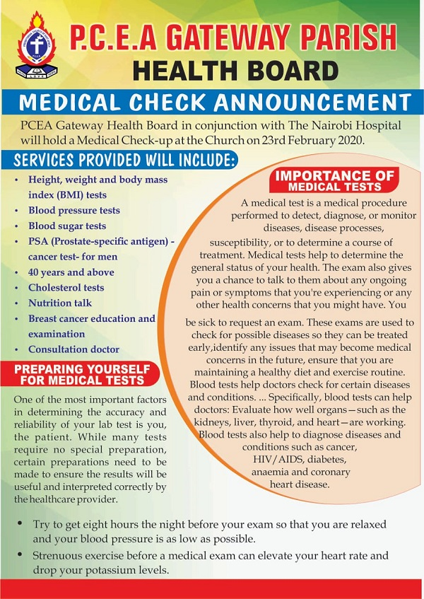 MEDICAL CHECK UP 2020