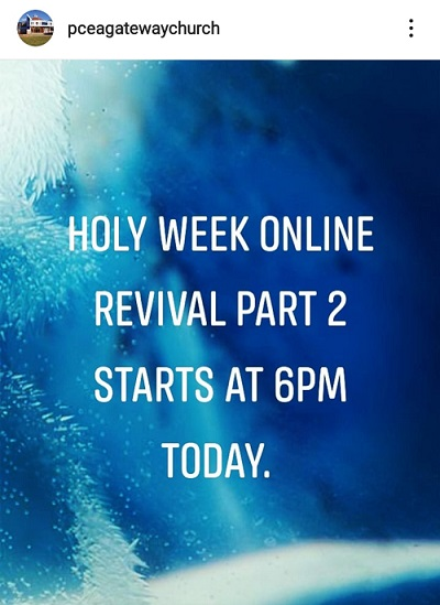 Holy Week Online Revival Day 2