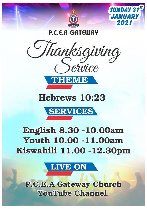 Thanksgiving Sunday 31.01.2021
